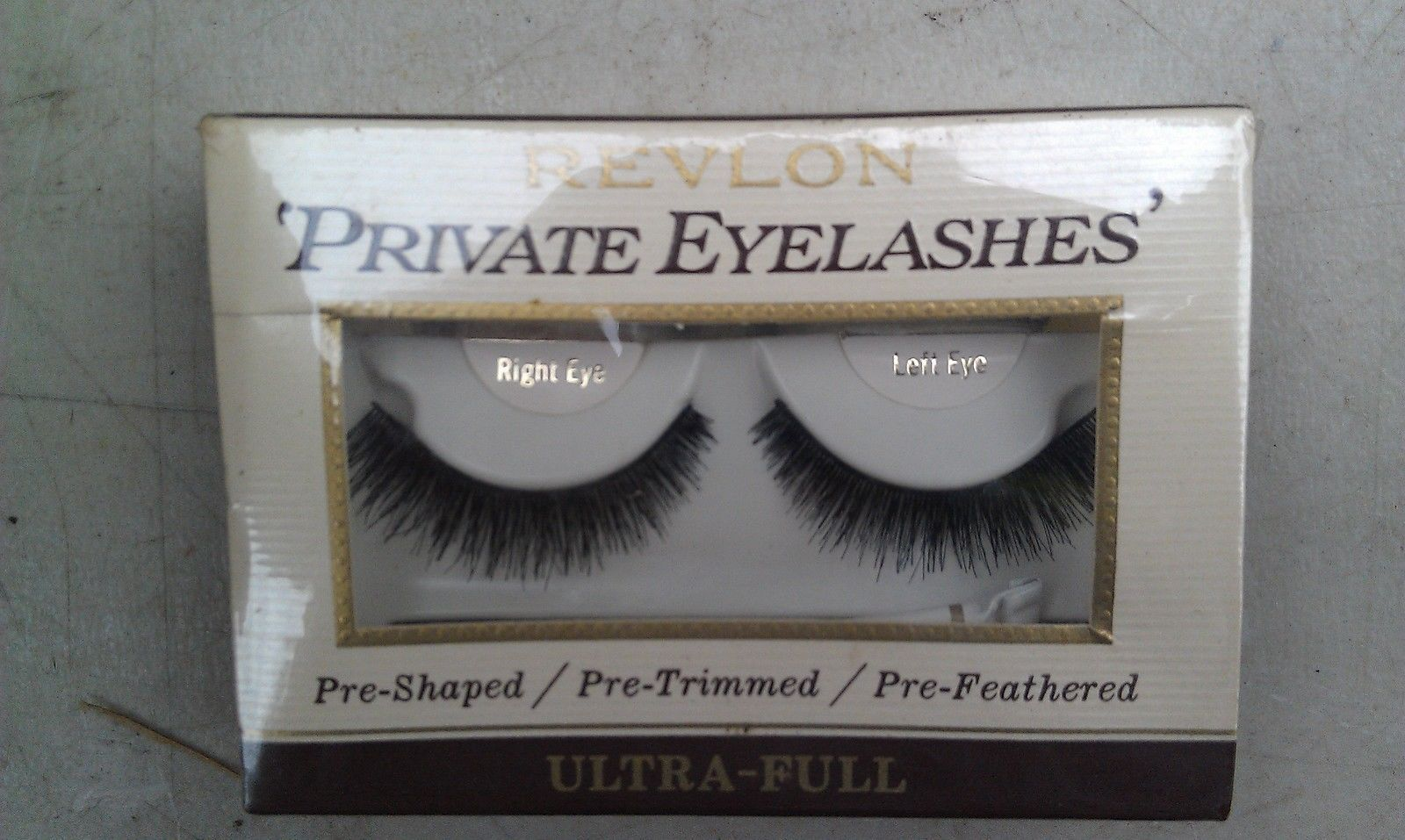 "8F60 REVLON ""PRIVATE EYELASHES"" FROM WEST GERMANY, HAND MADE, REAL HAIR, NEW"