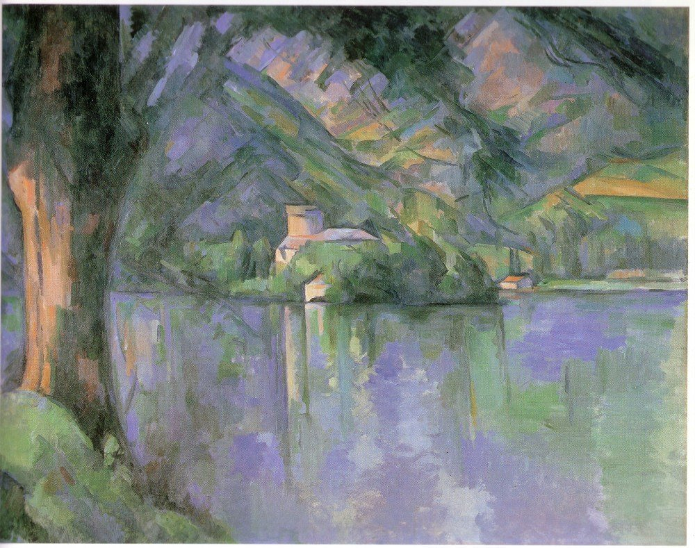 100% Hand Painted Oil on Canvas - Le_lac_d_Annecy_1896 by Cezanne - 30x40 Inch