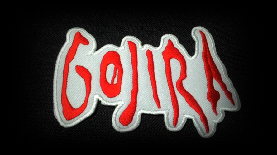 Embroidered GOJIRA punk rock Sew on or Iron on Patch.