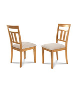 SET OF 6 KITCHEN DINING SIDE CHAIRS w/ SOFT-PADDED SEAT IN  OAK FINISH - $382.42