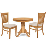 """3 PIECE 36"""" ROUND KITCHEN  DINETTE  TABLE DINING SET  & 2 CHAIRS IN OAK - $345.02"""