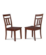 4 KITCHEN DINING SIDE CHAIRS w/ WOODEN SEAT IN MAHOGANY FINISH - $250.58
