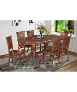 """SOMERVILLE DINETTE DINING ROOM TABLE SET 42""""X78"""" W. WOODEN SEATS IN ESPR... - $689.85+"""