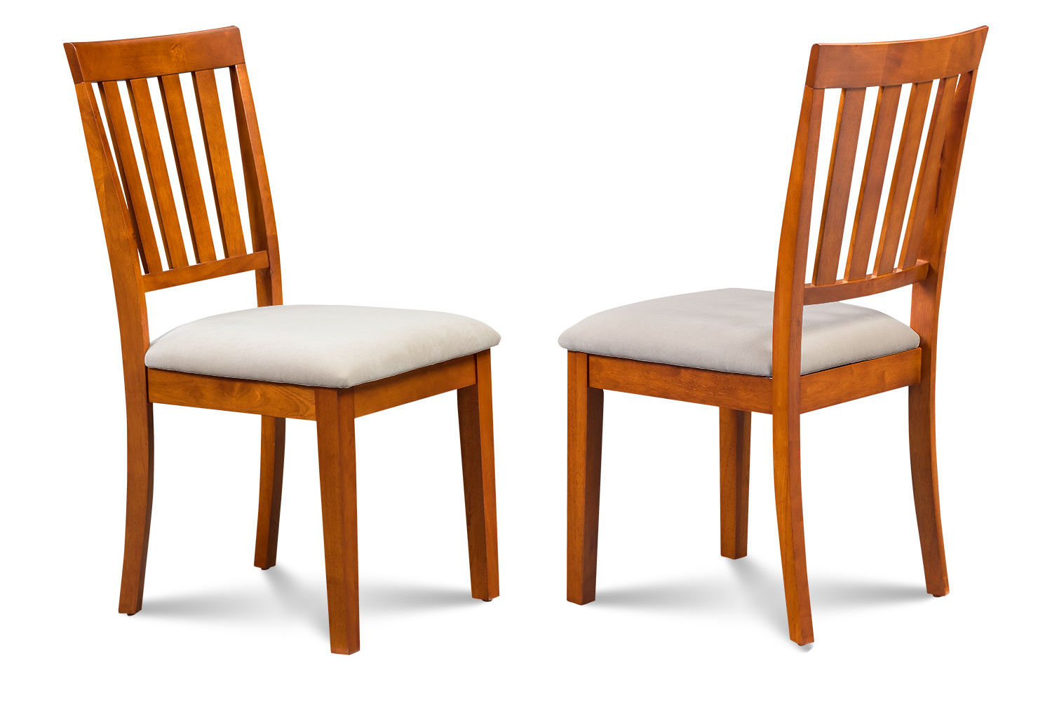 SET OF 2 MOCHA KITCHEN DINING CHAIRS WITH SOFT-PADDED SEAT
