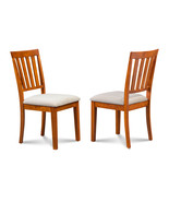 SET OF 2 MOCHA KITCHEN DINING CHAIRS WITH SOFT-PADDED SEAT - $135.00