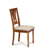 SET OF 6 DINING SIDE CHAIR WITH SOFT-PADDED SEATS IN SADDLE BROWN - $409.53