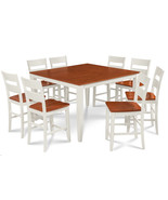 """54"""" SQUARE COUNTER HEIGHT TABLE DINING ROOM SET W. 18"""" BUTTERFLY LEAF - $699.91+"""
