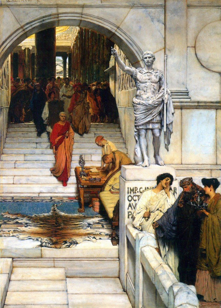100% Hand Painted Oil on Canvas - An audience with Agrippa by Alma-Tadema - 2...