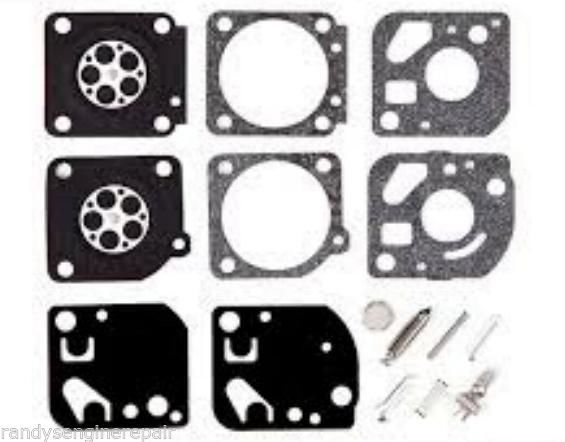 Zama C1U Carburetor Repair Rebuild Kit fits many old Ryobi IDC Sears Blower Trim