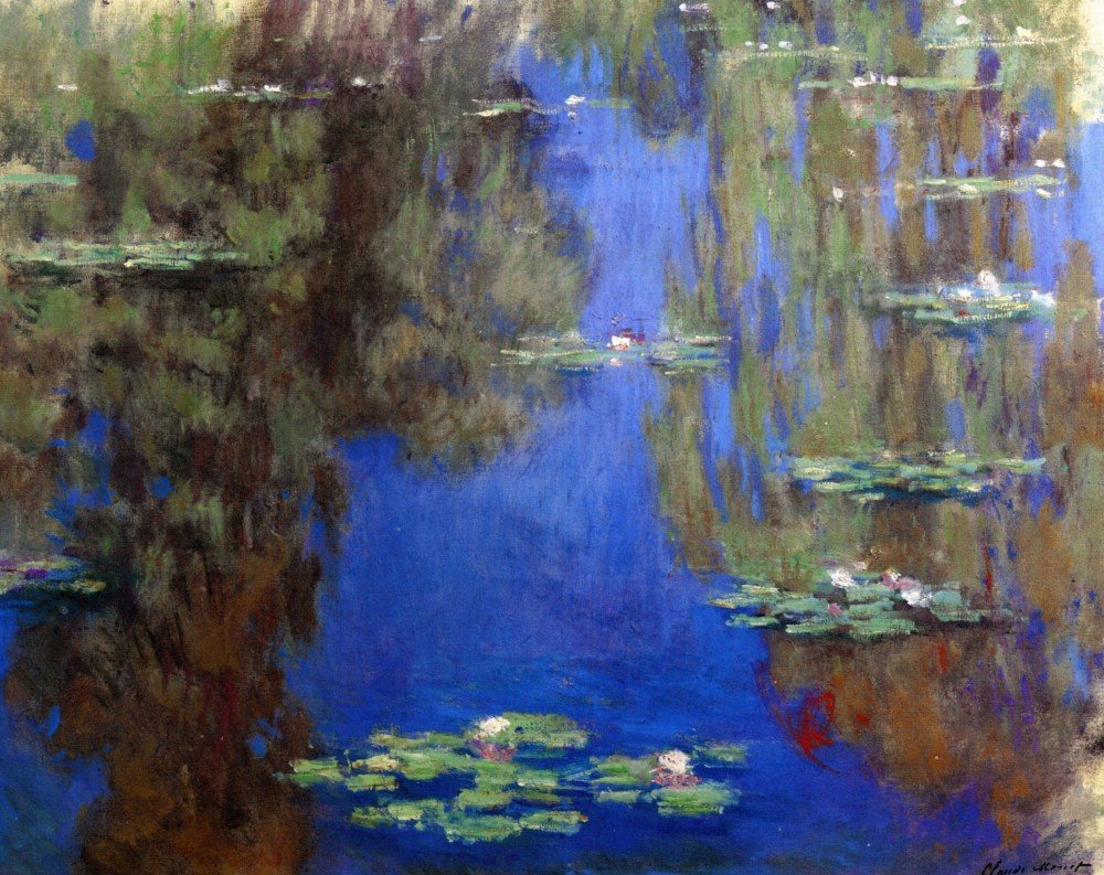 100% Hand Painted Oil on Canvas - Monet - Water Lilies6_lg - 24x36 Inch