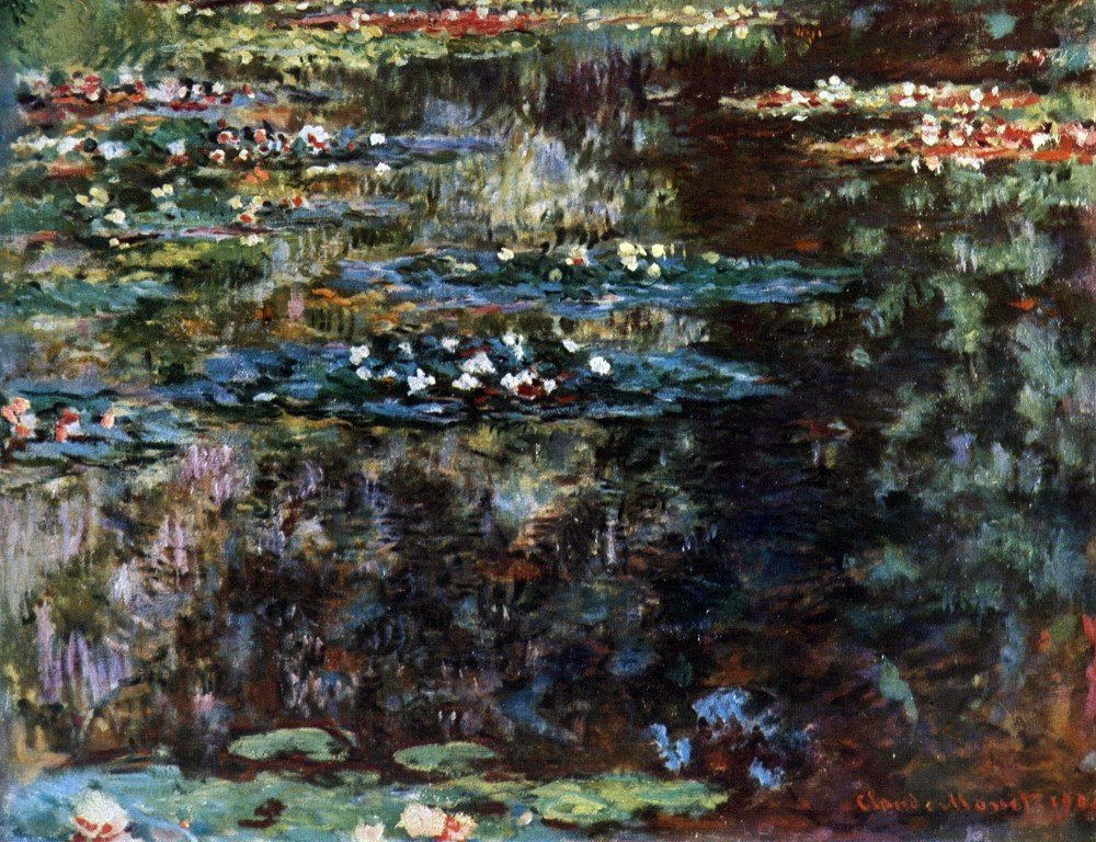 100% Hand Painted Oil on Canvas - Water garden at Giverny by Monet - 24x36 Inch