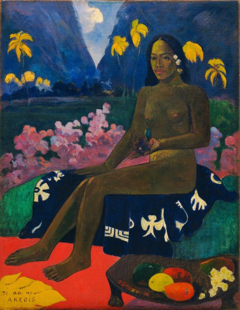 100% Hand Painted Oil on Canvas - Gauguin - The Seed of the Areoi - 30x40 Inch