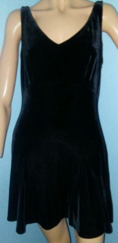 Victorias Secret Sexy Black Velvet Chemise Babydoll Negligee Nightie Sz Small