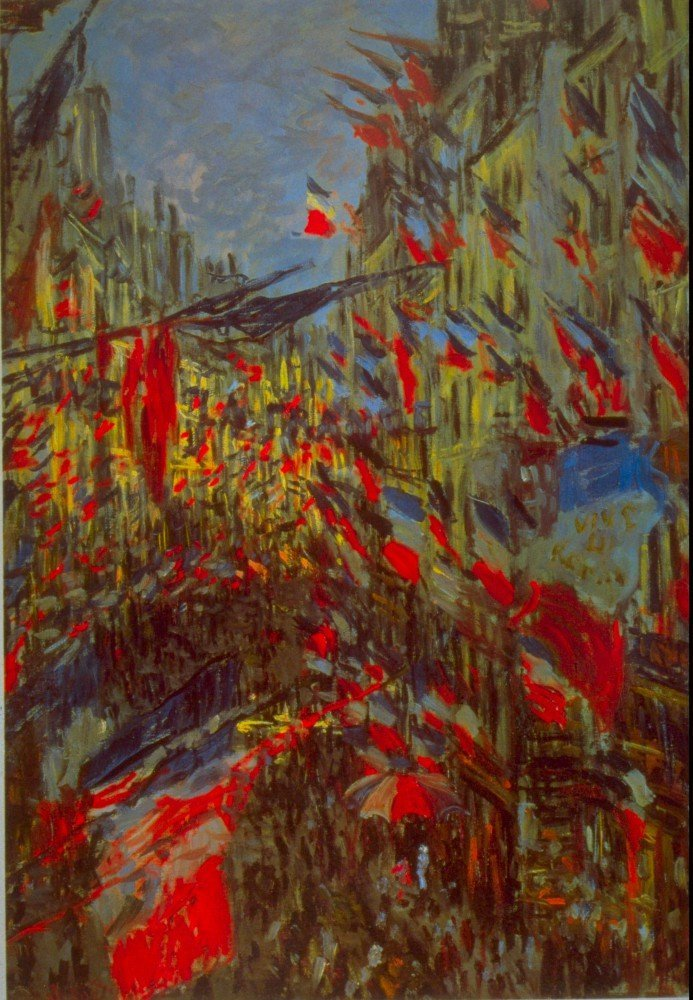 100% Hand Painted Oil on Canvas - Festivities by Monet - 30x40 Inch