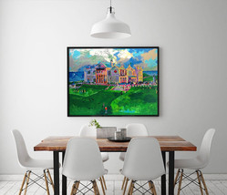 "Leroy Neiman ""Golf Course Scenery"" HD Canvas Print large wall picture 32... - $49.49"