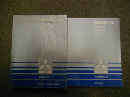 1990 Mitsubishi Sigma V6 Service Repair Shop Manual 2 Volume Set Oem Book 90 - $30.85