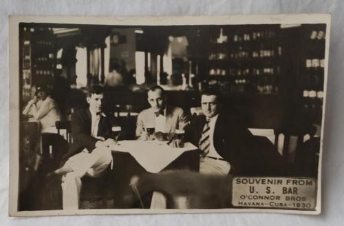 1930 Havana Cuba US Bar Souvenir O'Connor Bros Rare Cubian Postcard U S