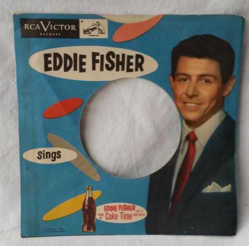 Vintage Eddie Fisher 45 RPM Record Sleeve Only Star of Coke Time TV and Radio