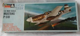 "Unbuilt 1966 Monogram P-51B Mustang Fighter 1/4"" Scale Plastic Model Complete"