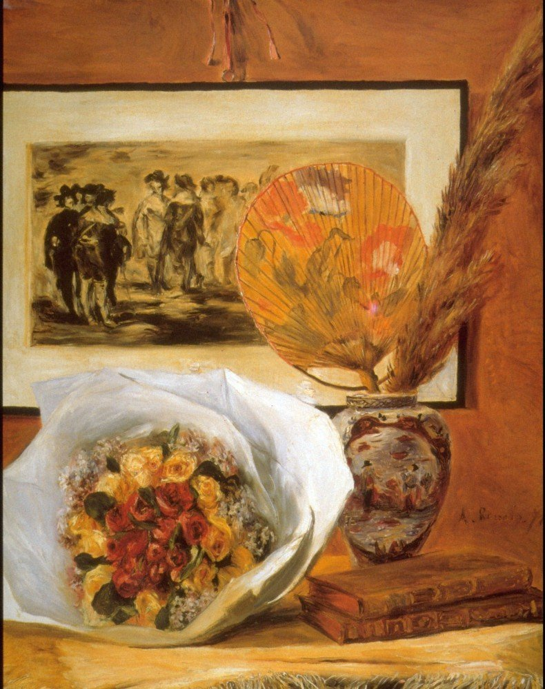 100% Hand Painted Oil on Canvas - Bouquet by Renoir - 20x24 Inch