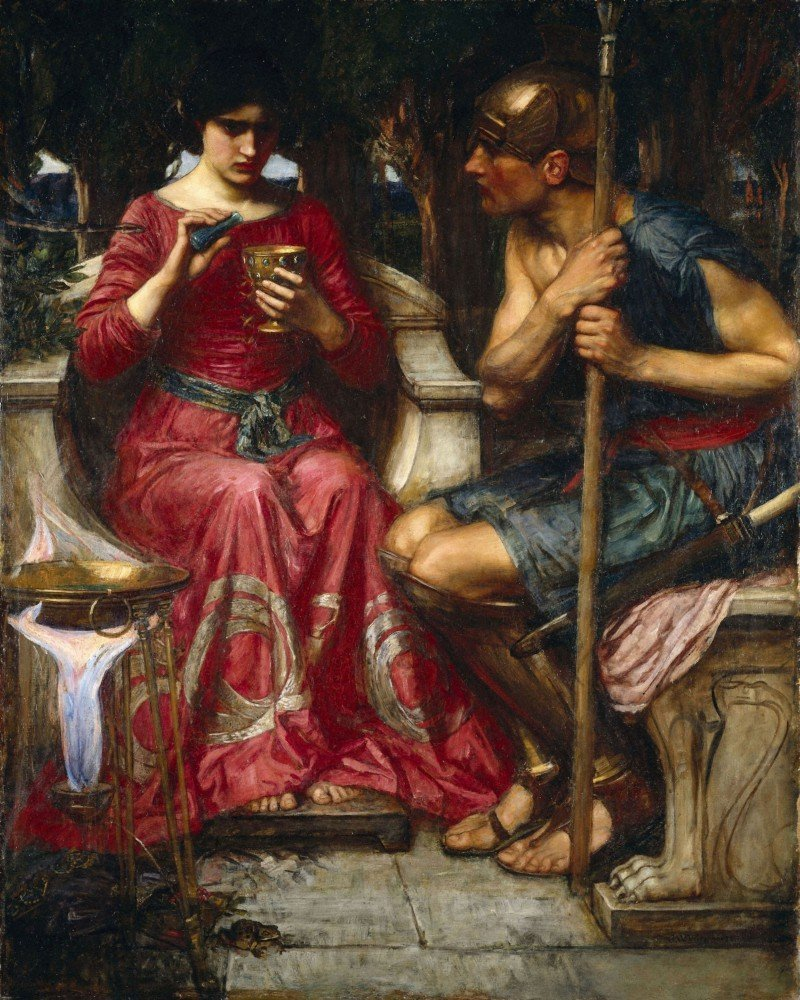 100% Hand Painted Oil on Canvas - Waterhouse - Jason and Medea - 20x24 Inch