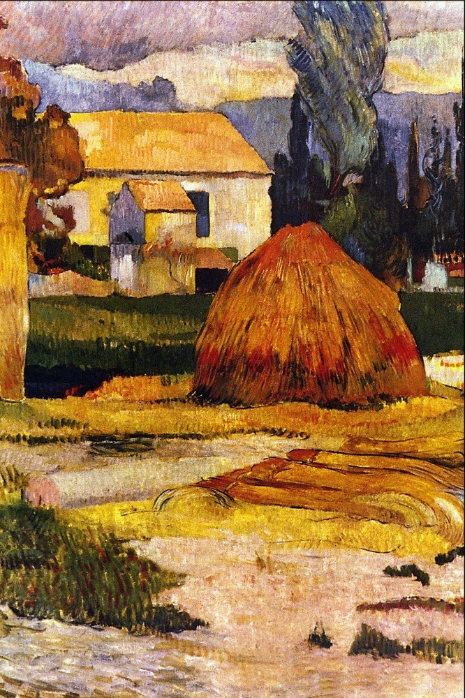 100% Hand Painted Oil on Canvas - Landscape, Arles by Gauguin - 24x36 Inch