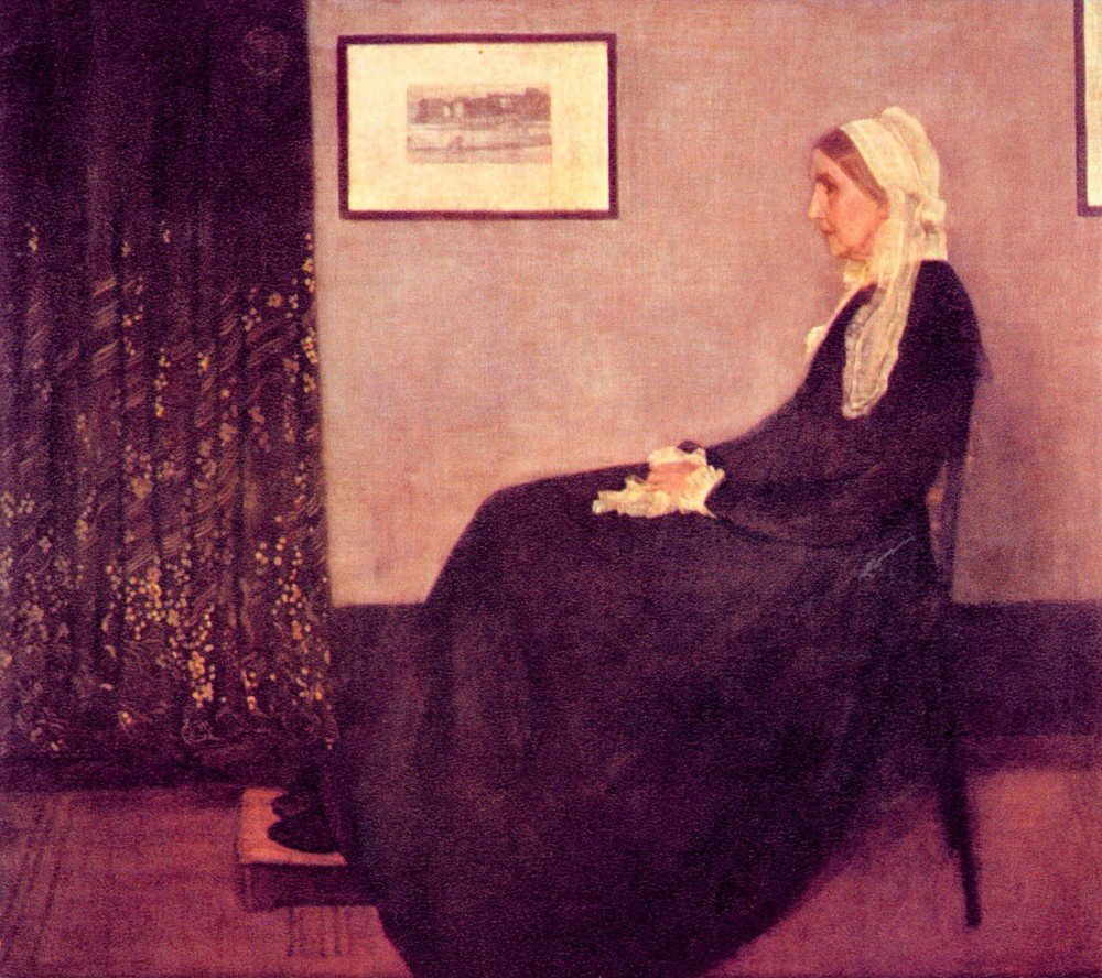 100% Hand Painted Oil on Canvas - Whistler's Mother by James Abbot McNeill Wh...