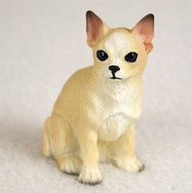 CHIHUAHUA TINY ONES DOG Figurine Statue Pet Lovers Gift Resin White Tan - $8.99