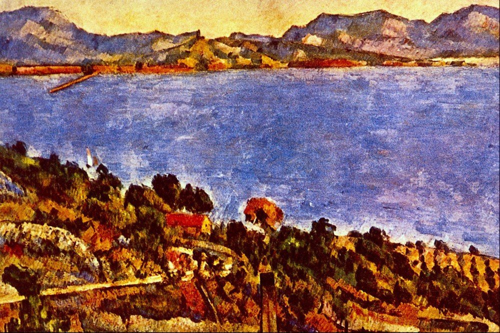 100% Hand Painted Oil on Canvas - Gulf of Marseille by Cezanne - 24x36 Inch
