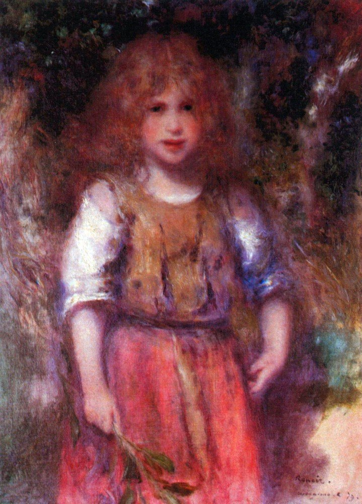 100% Hand Painted Oil on Canvas - Gypsy girl by Renoir - 24x36 Inch