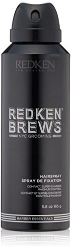 Redken Brews Hairspray For Men, High Hold For All Hair Types, 5.8 oz.