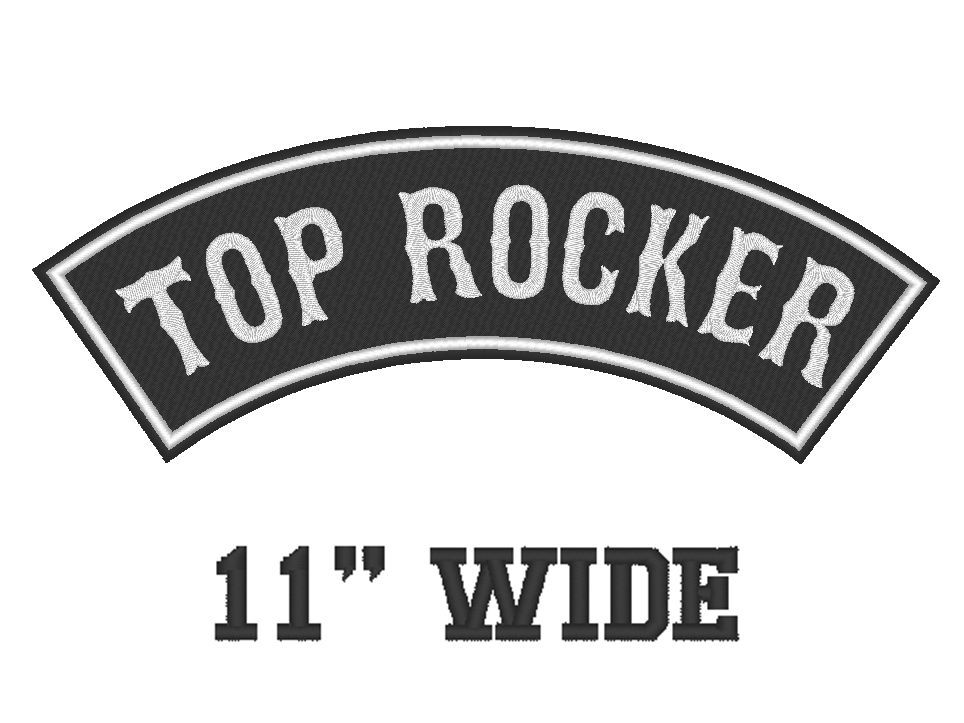 """Custom Embroidered Top Rocker Vest Patch Motorcycle Biker Patch Club 11"""" (B)"""