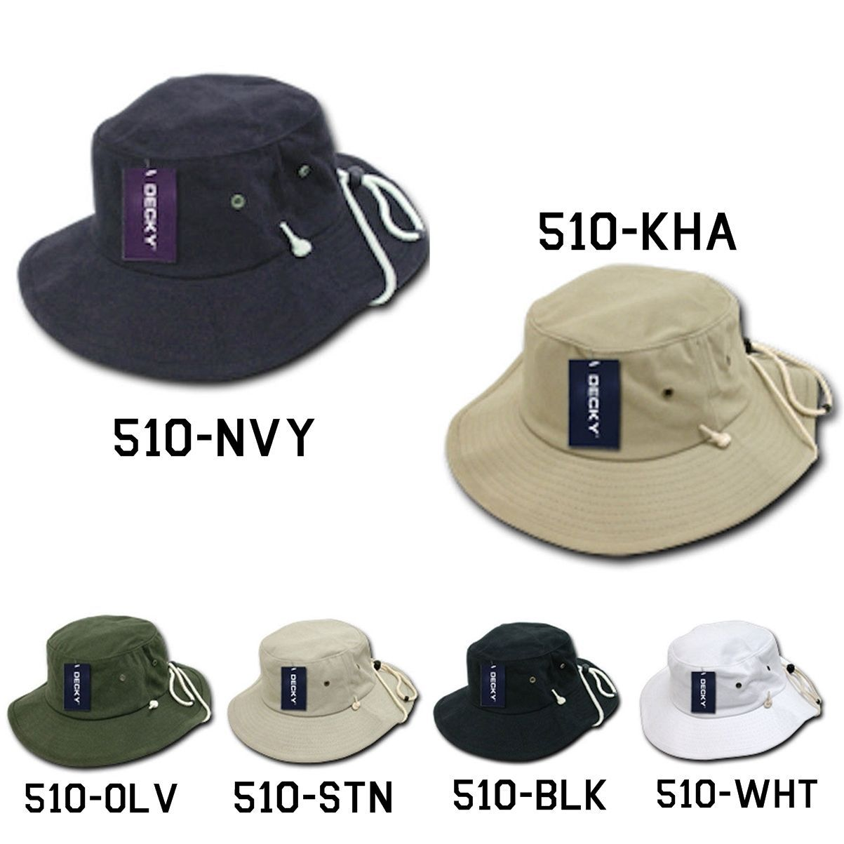 CUSTOM EMBROIDERY Personalized Customized Decky Australian Bucket Hat Hats 510