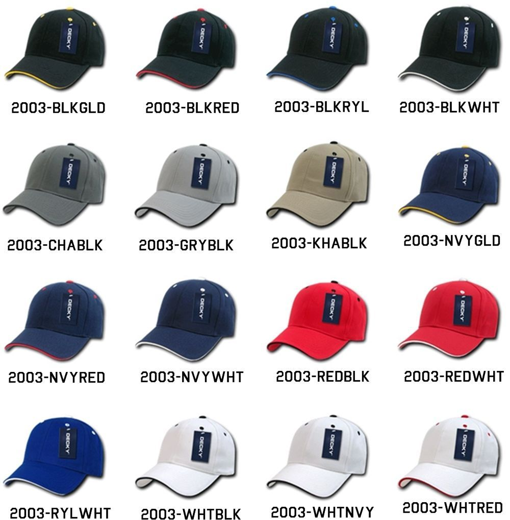 CUSTOM EMBROIDERY Personalized Customized Decky Sandwich Visor Adjustable 2003