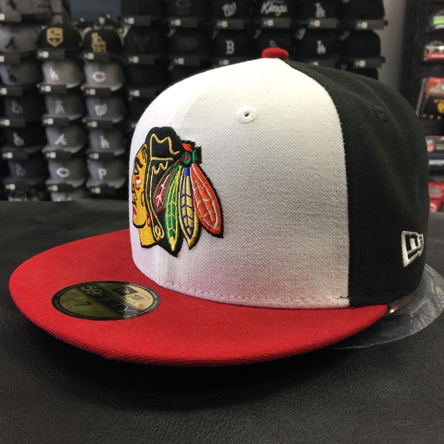 New Era 59Fifty MLB Chicago Blackhawks White Front Fitted Cap