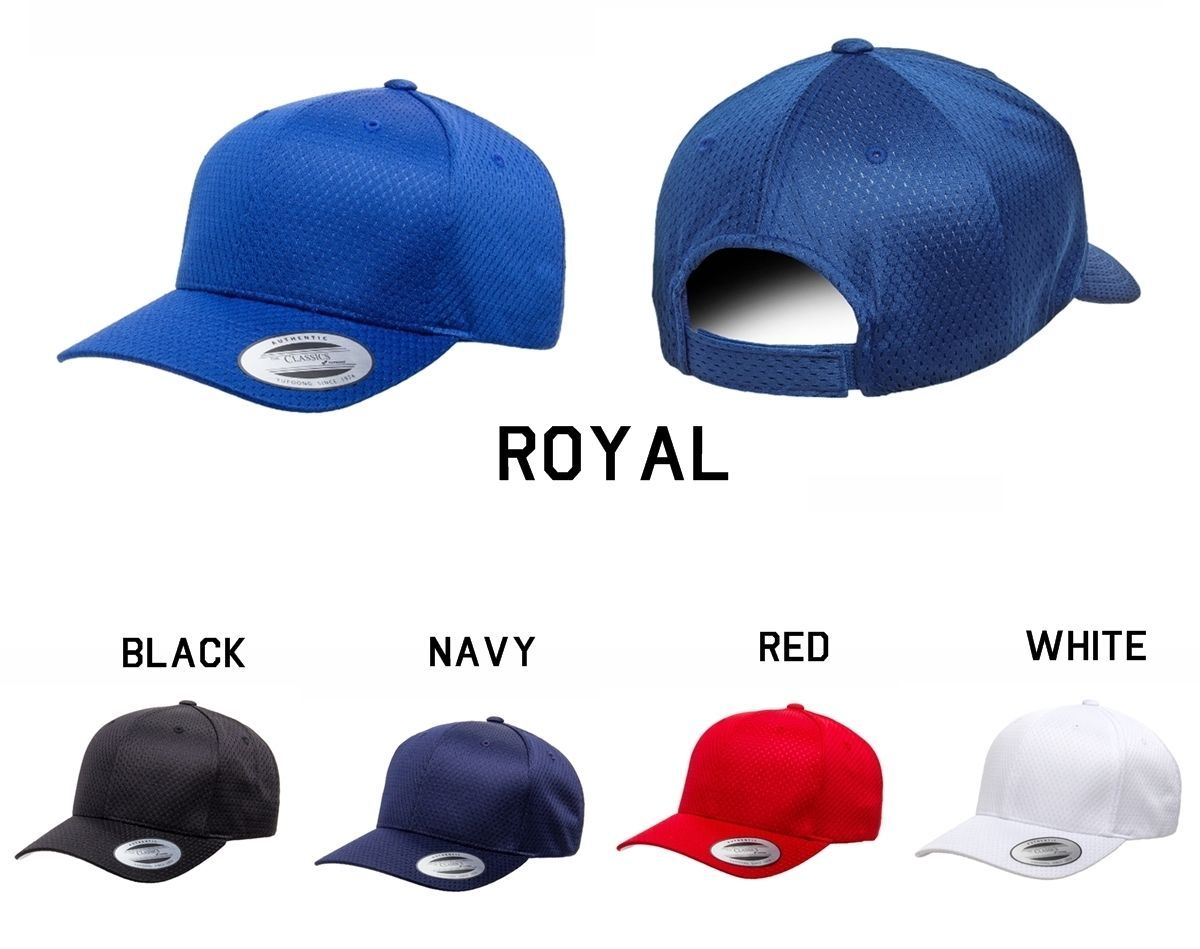 CUSTOM EMBROIDERY Personalized Customized Yupoong Flexfit Adjustable Cap 6008