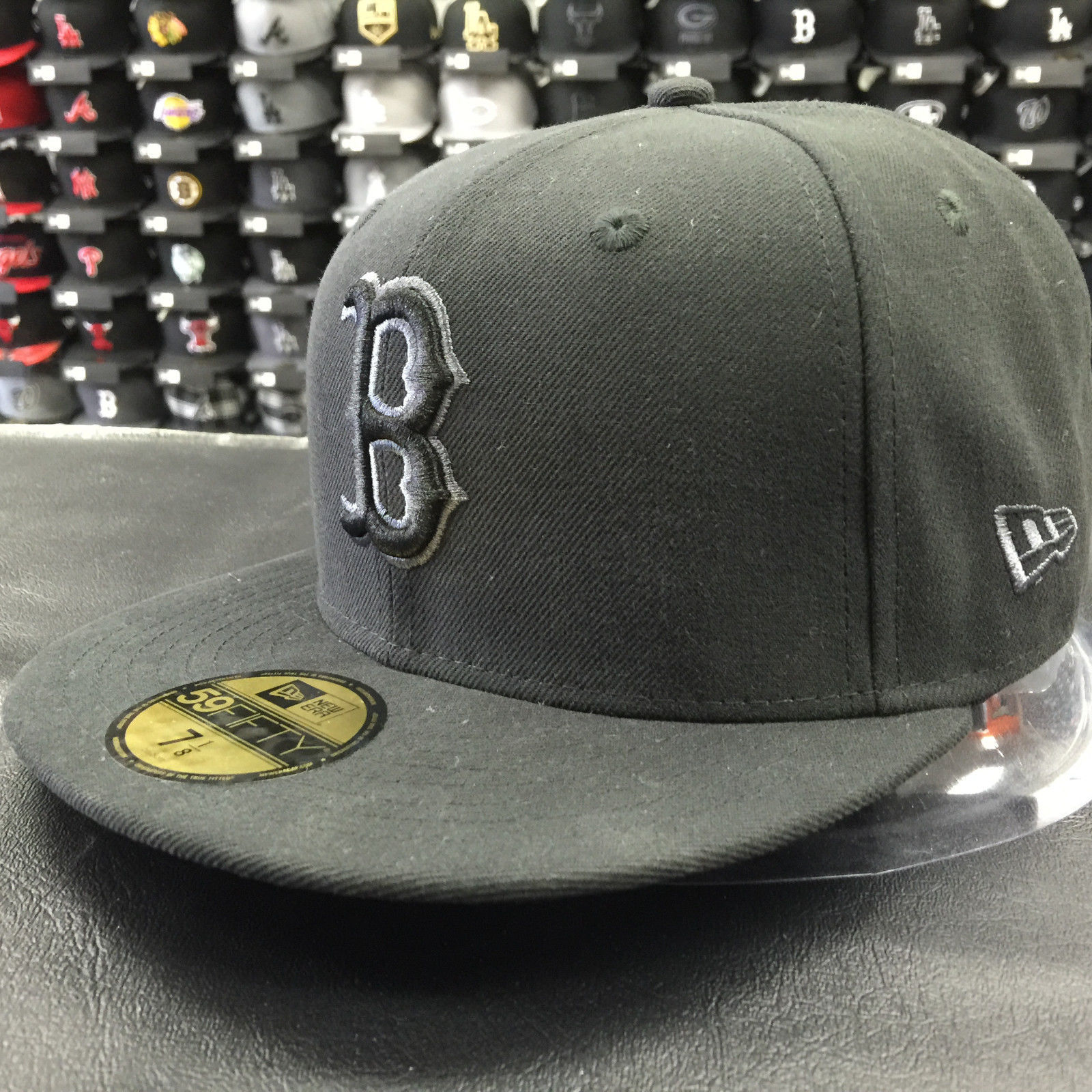 New Era 59Fifty MLB Boston Red Sox Black Gray Basic Fitted Cap