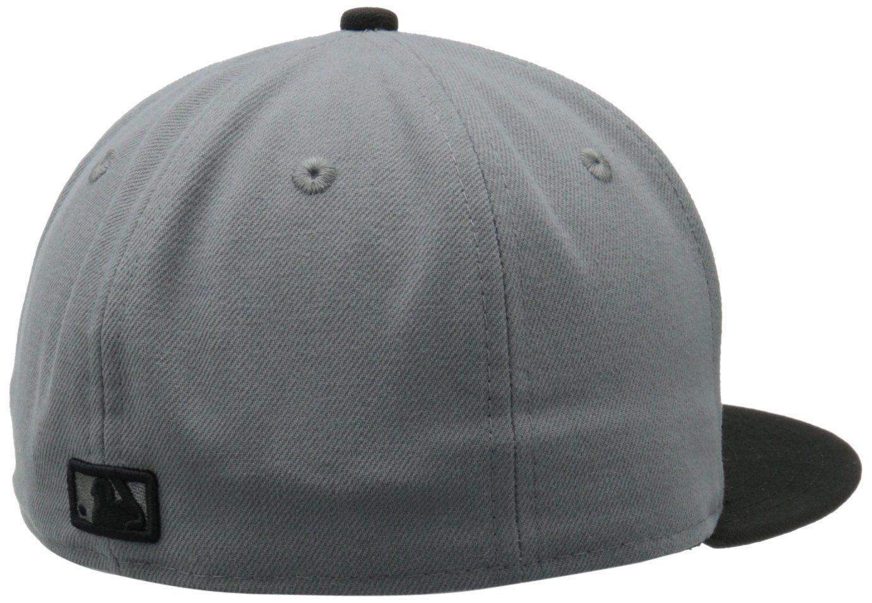 New Era 59Fifty MLB Atlanta Braves Storm Gray/Black Baseball  Fitted Cap Hat