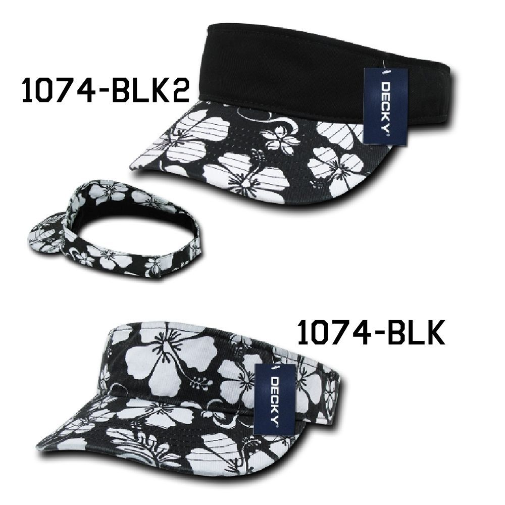 CUSTOM EMBROIDERY Personalized Customized Decky Floral Visor Adjustable 1074