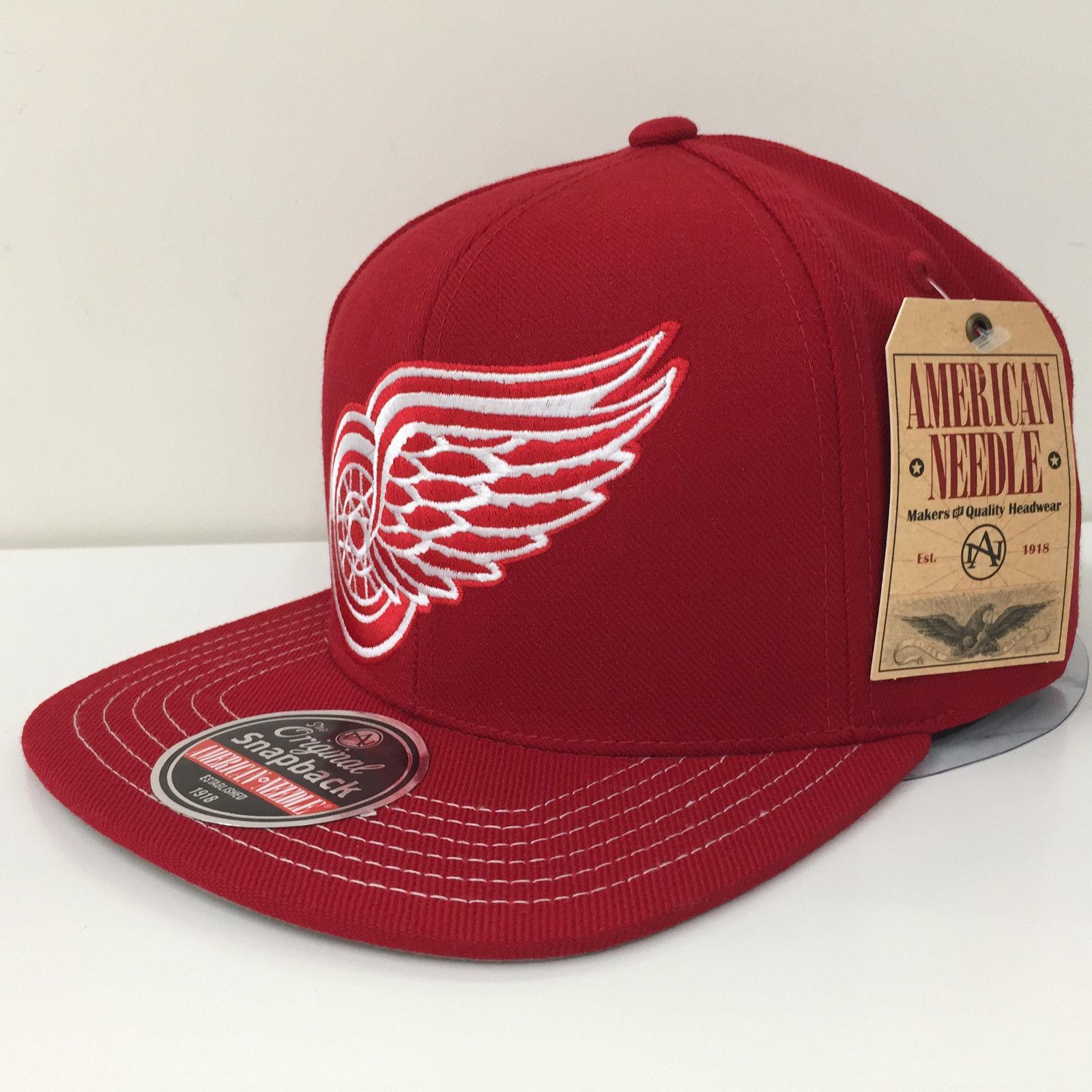 American Needle NHL Detroit Red Wings Mammoth Snapback Cap Hat 12846