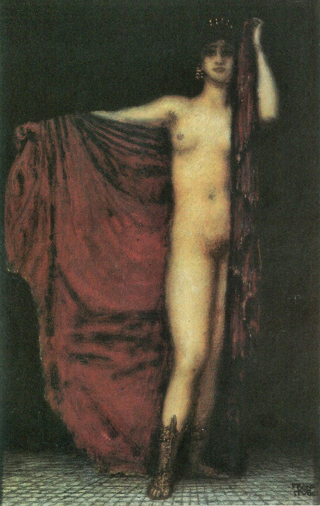 100% Hand Painted Oil on Canvas - Phyrne by Franz von Stuck - 30x40 Inch