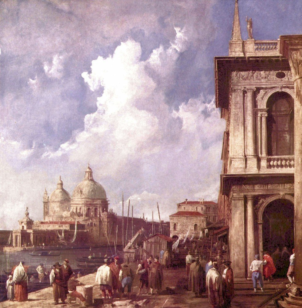 100% Hand Painted Oil on Canvas - Piazza in Venice by Canaletto - 30x40 Inch