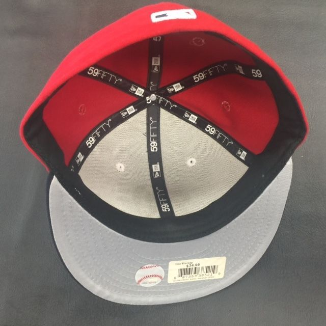 New Era 59Fifty MLB Washington Nationals White Front Red Fitted Cap