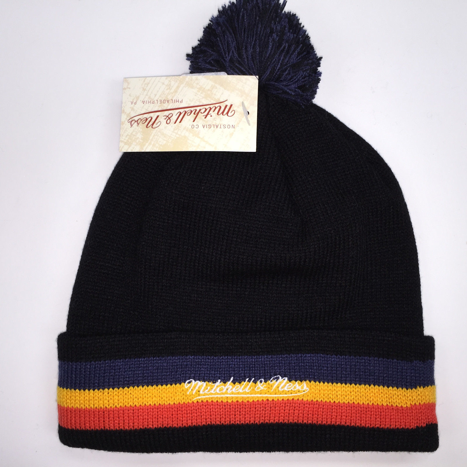 Mitchell & Ness NBA Oklahoma City Thunder Blackout  Knit Beanie 11594