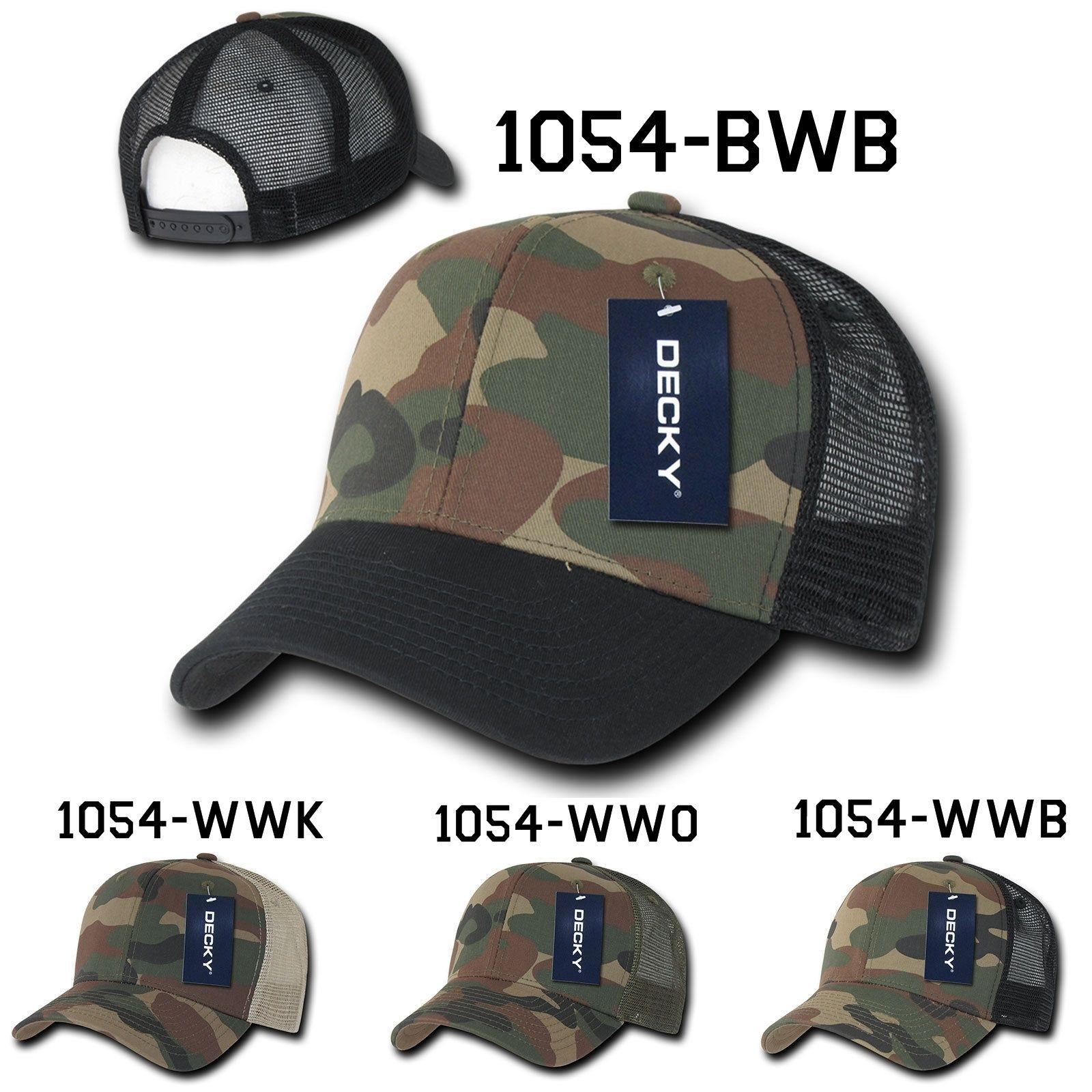 CUSTOM EMBROIDERY Personalized Customized Decky Camo Trucker Snapback Cap 1054