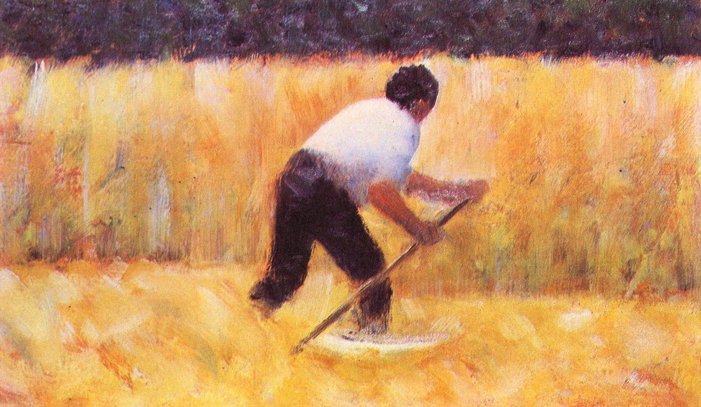 Roshni Arts - Famous Masterpieces 100% Hand Painted Oil on Canvas - Mowing b...