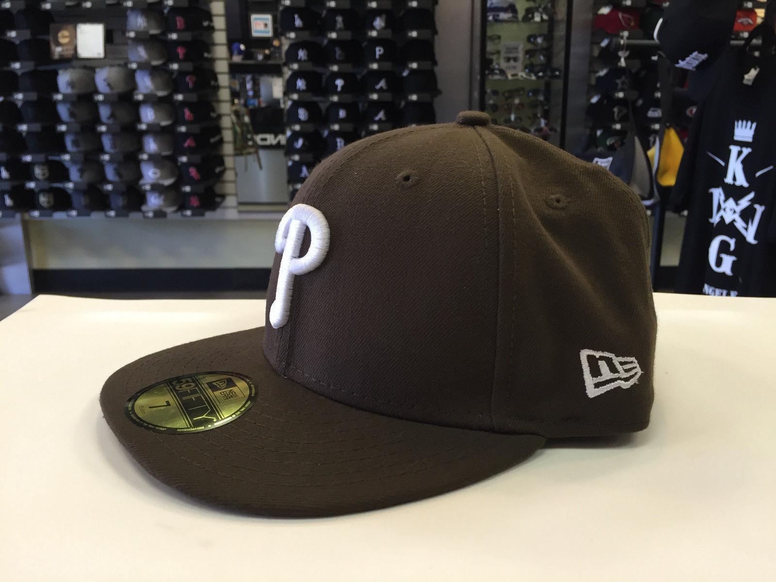 New Era 59Fifty MLB Basic Philadelphia Phillies Walnut Baseball Fitted Cap Hat