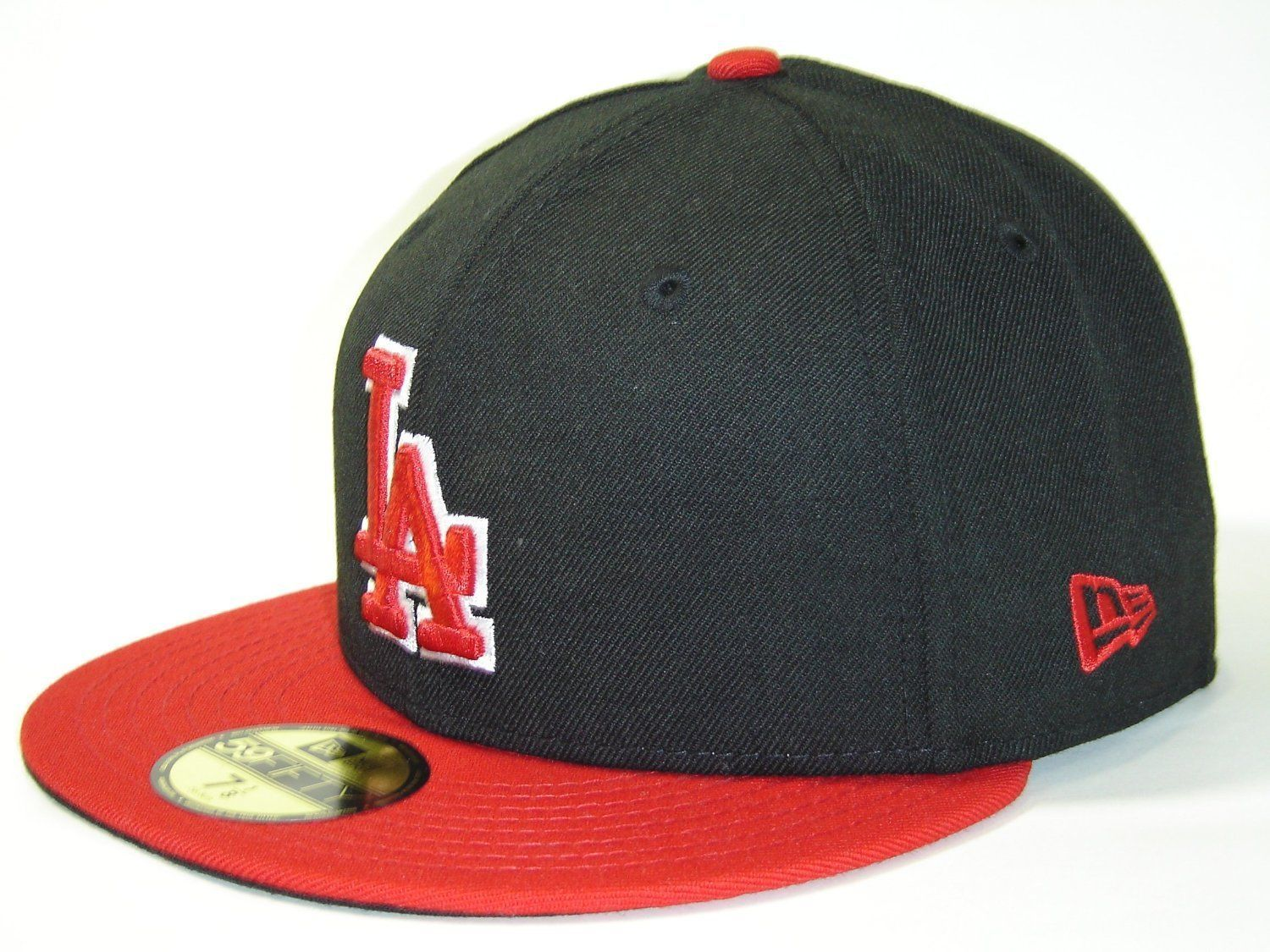 New Era 59Fifty MLB Los Angeles Dodgers Black/Scarlet Fitted Cap