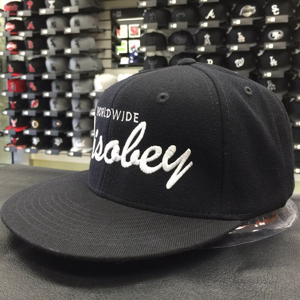 Custom Worldwide Disobey Black White Adjustable Snapback Cap Hat 13292