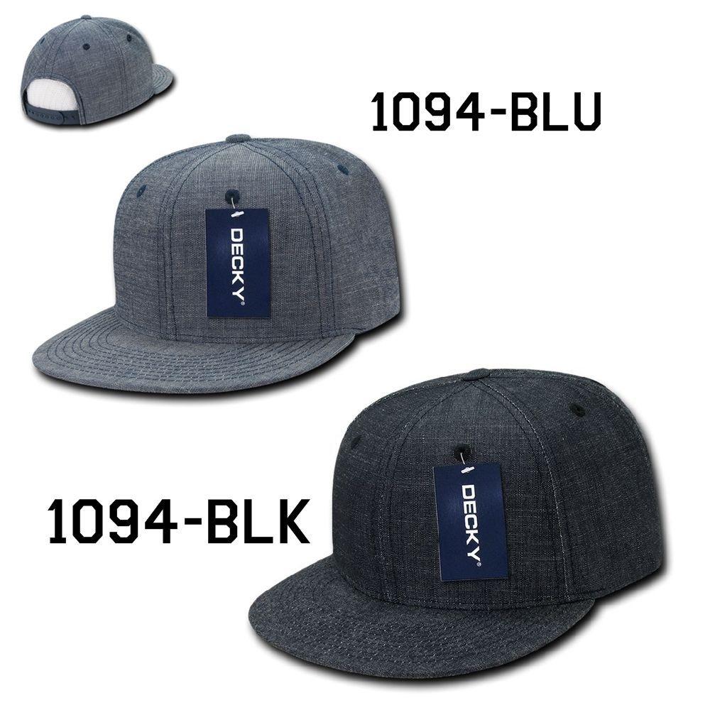CUSTOM EMBROIDERY Personalized Customized Decky Washed Denim Snapback Cap 1094